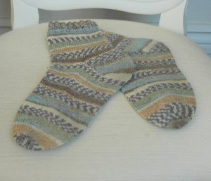 Top-Down Socks on 5 Needles