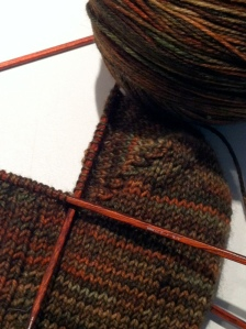 Malabrigo Socks in Progress