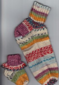 Self Patterning Socks on Etsy 2