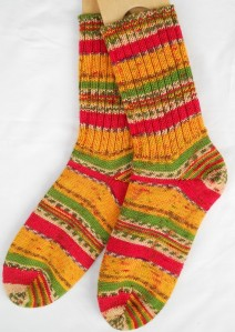 Self Patterning Socks on Etsy