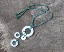 Silk Necklace on Etsy