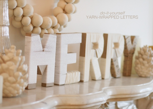 Yarn Wrapped Letters from Mom's Best