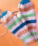 Striped Mittens