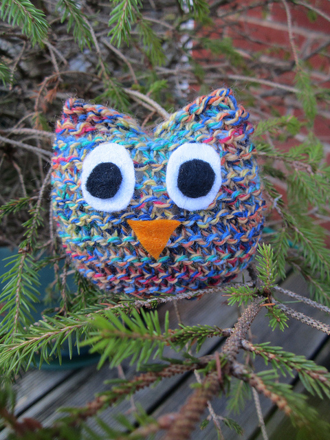 Knitted Owl by Josie Kitten