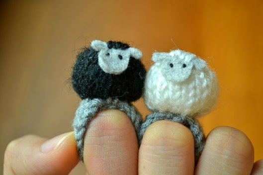 Twin Sheep by Momshoo on Etsy