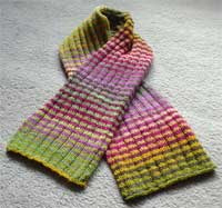 Rib and Stripe Scarf by Kristin Spurkland