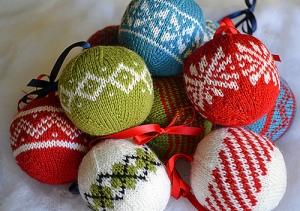 7 Colorwork Christmas Ornaments by Meg Hollar