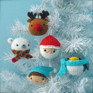 Christmas Balls Knit Ornament Pattern Set by Amy Gaines