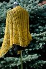 Golden TripleLeaf Shawl by Magdalena Roslaniec
