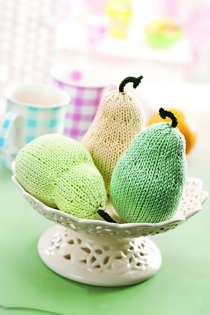 Knitted Fruit by Susie Johns