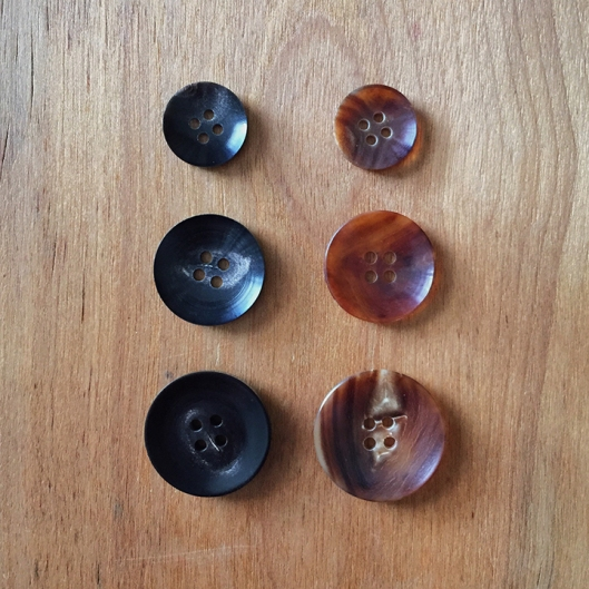 Horn Buttons at Fringe Supply Co