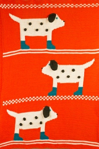 Dotted Dog Blanket (W546) by Amy Bahrt
