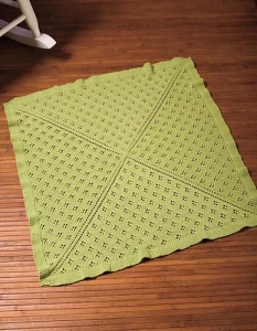Evellyn Anne Baby Blanket by Christine Olson