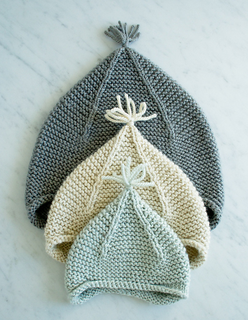 Garter Ear Flap Hat by Purl Soho