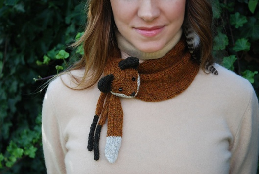 Mr Fox Stole My Heart by tiny owl knits